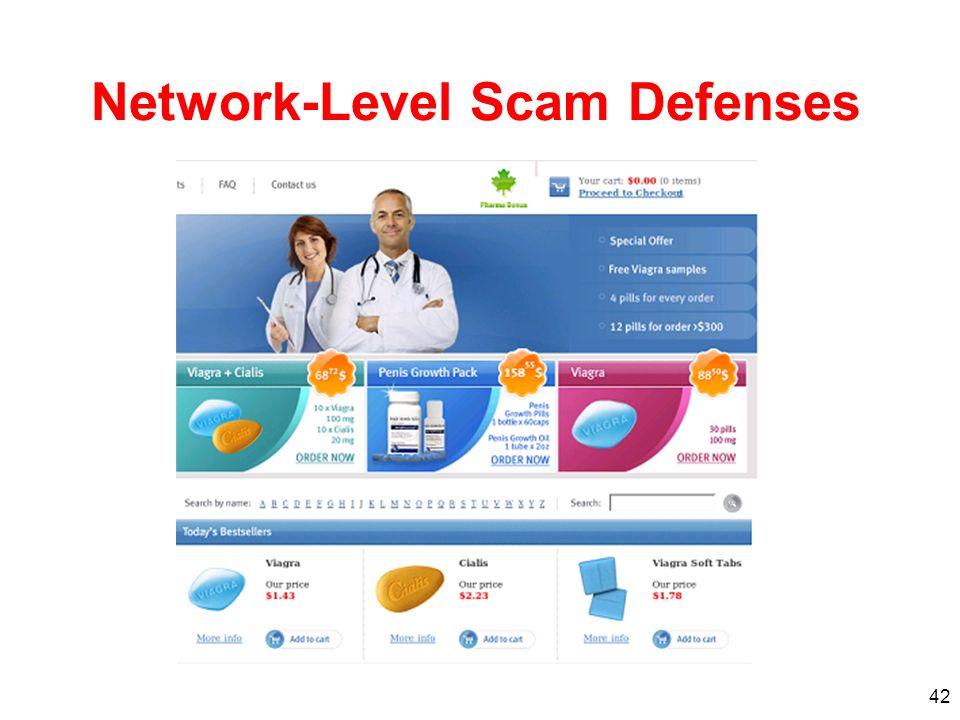 42 Network-Level Scam Defenses
