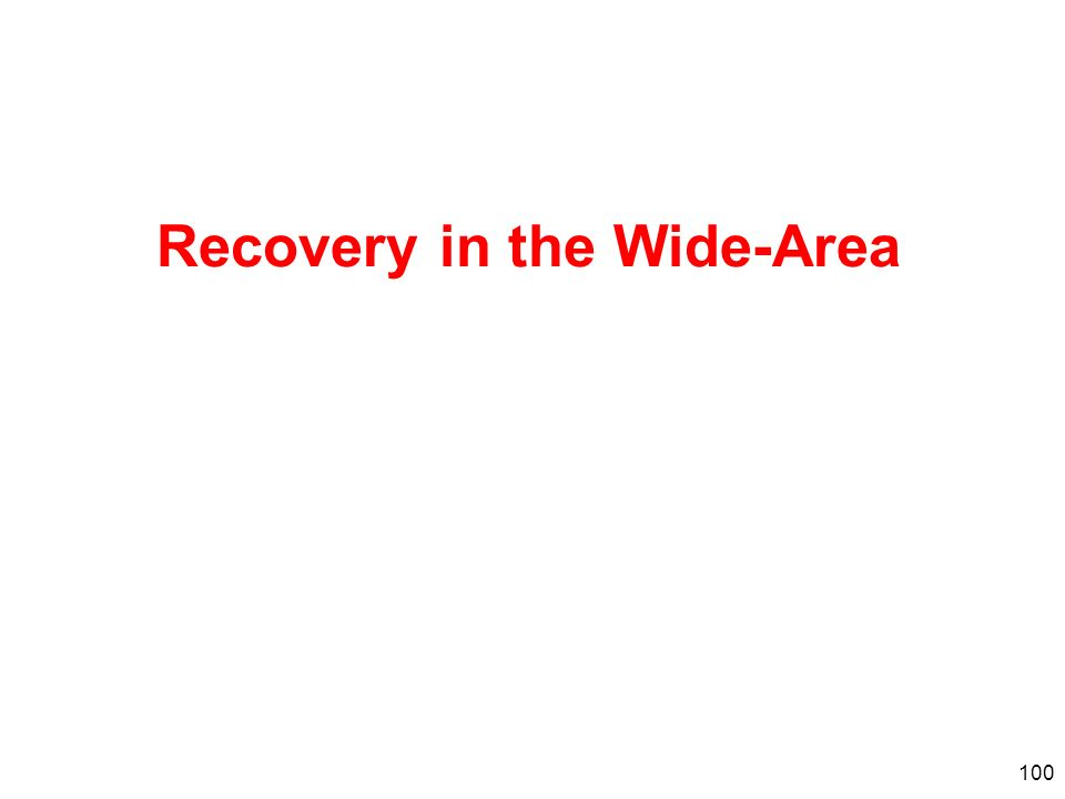 100 Recovery in the Wide-Area