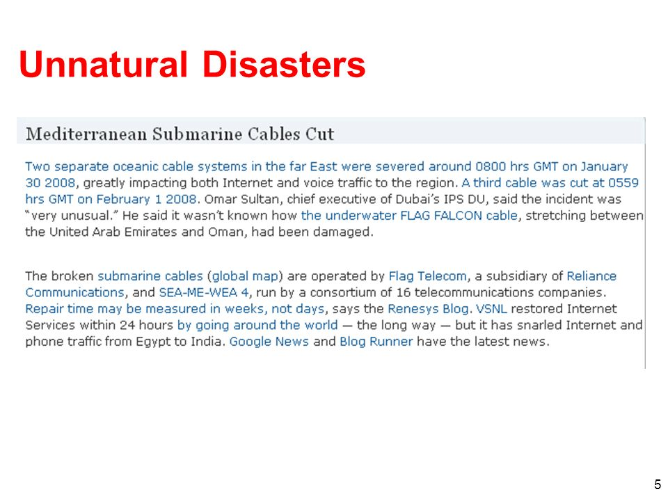5 Unnatural Disasters