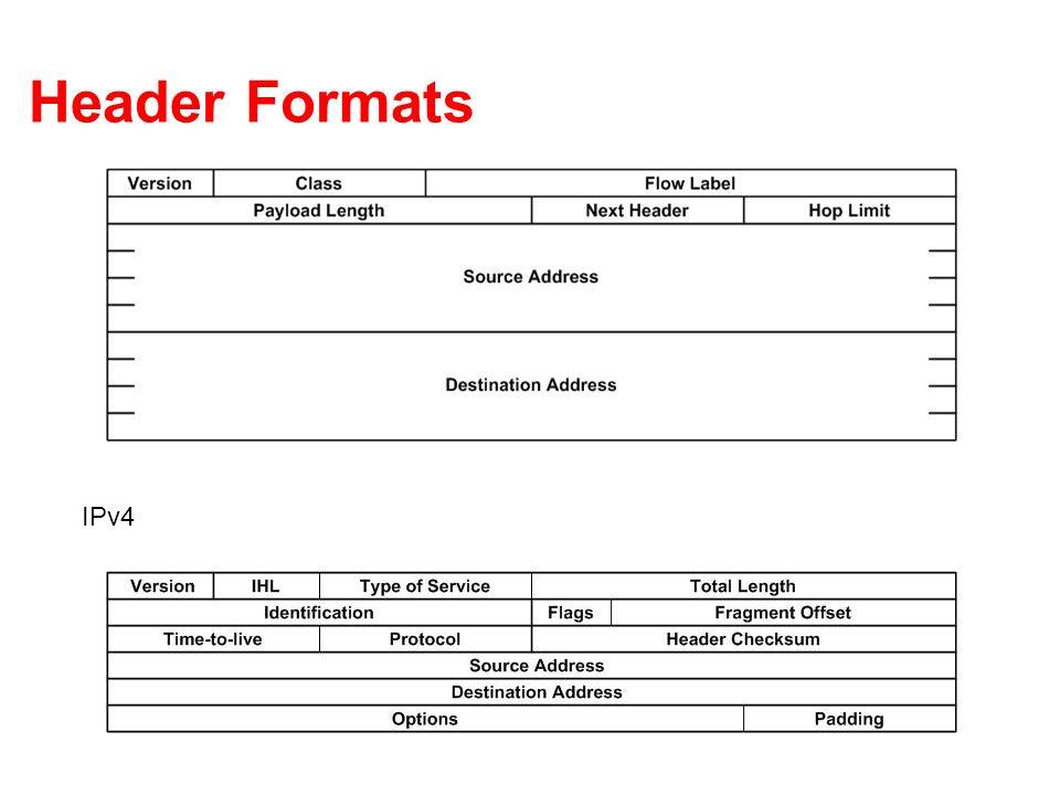 Header Formats IPv4