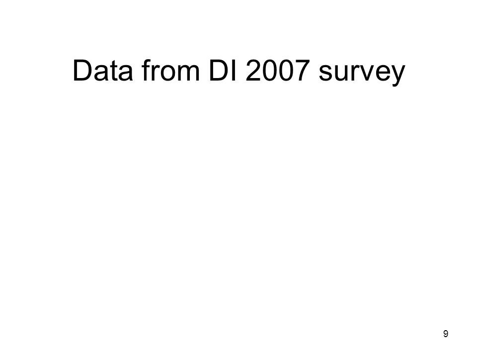 9 Data from DI 2007 survey