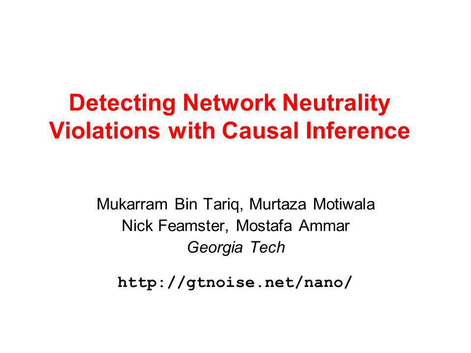 2 November 6, 2006 The Network Neutrality Debate Users have little choice of access networks.