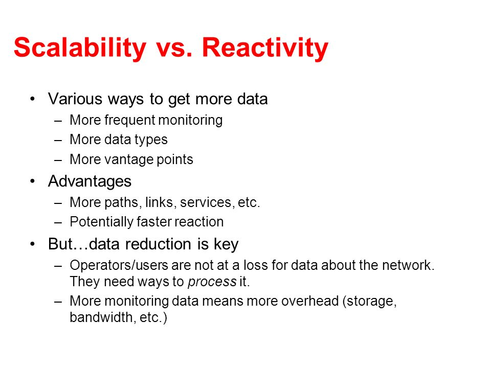 Scalability vs.