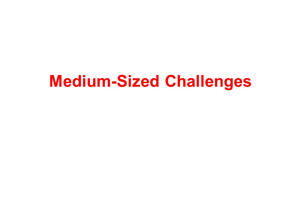 Medium-Sized Challenges