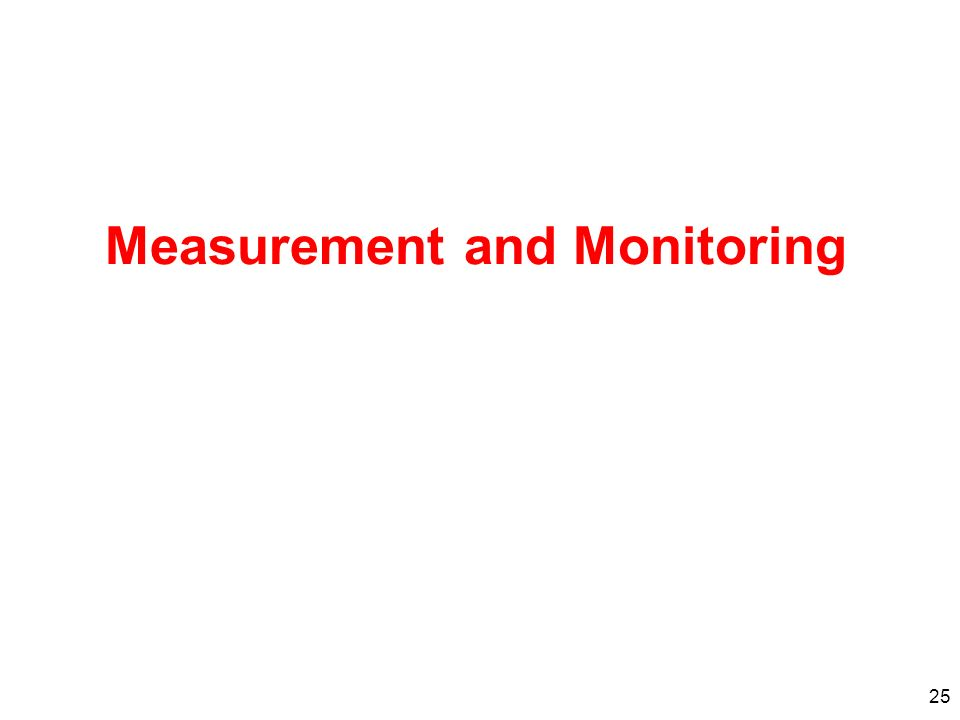 25 Measurement and Monitoring