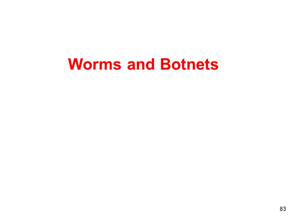 83 Worms and Botnets