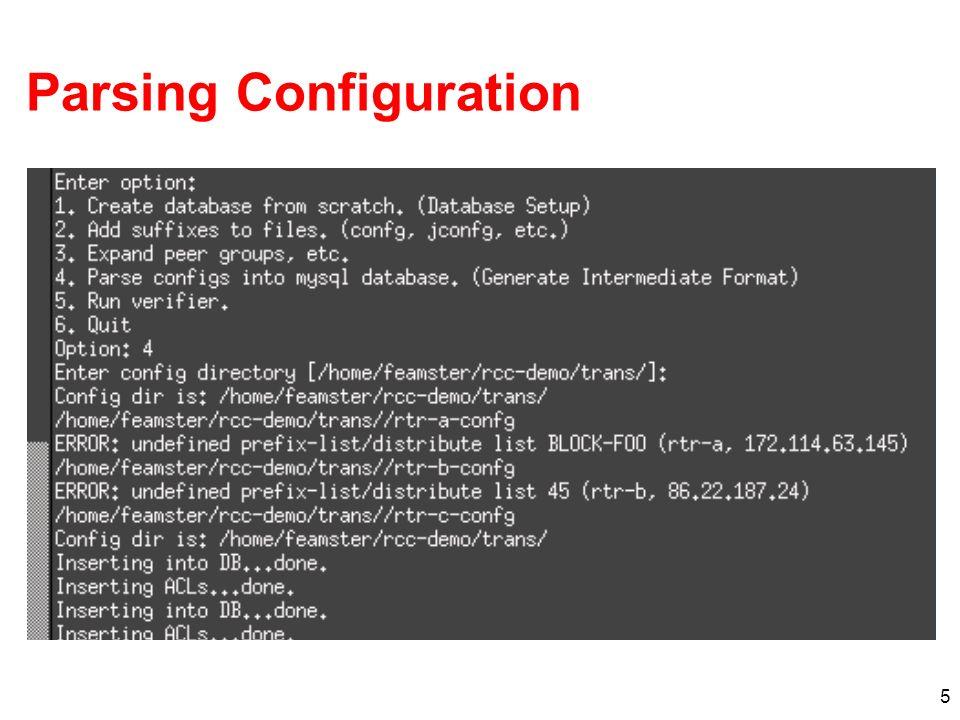 5 Parsing Configuration