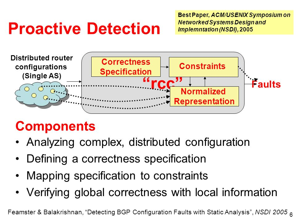 Anomaly Detection and Identification What happens when the network doesn t behave as expected.