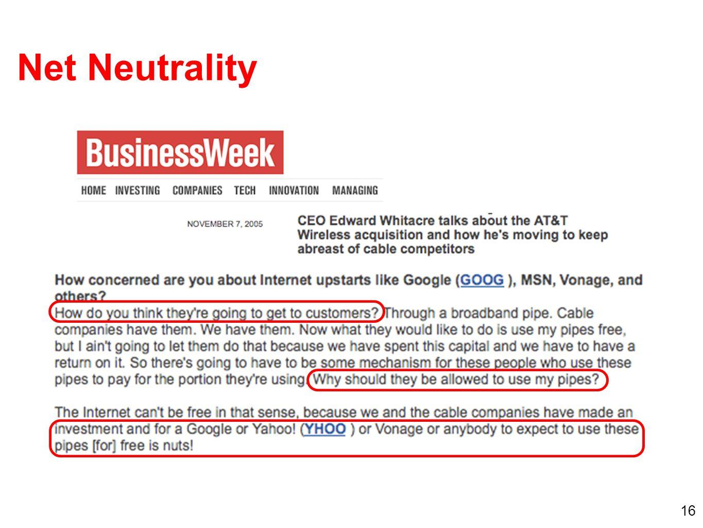 16 Net Neutrality