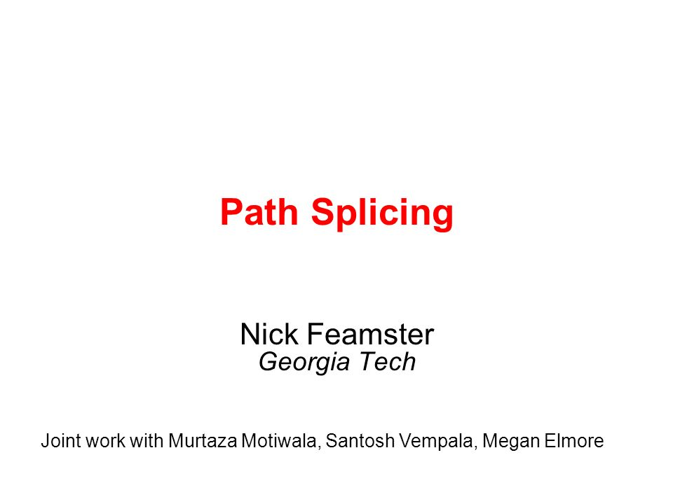 12 Outline Path Splicing for Intradomain Routing –Generating slices –Constructing paths –Forwarding –Recovery Evaluation –Reliability and recovery –Stretch –Effects on traffic Path Splicing for Interdomain Routing Ongoing: Prototype and Deployment Paths