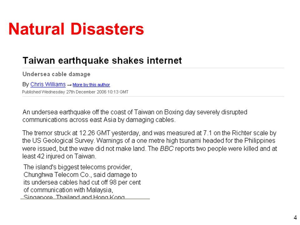 4 Natural Disasters
