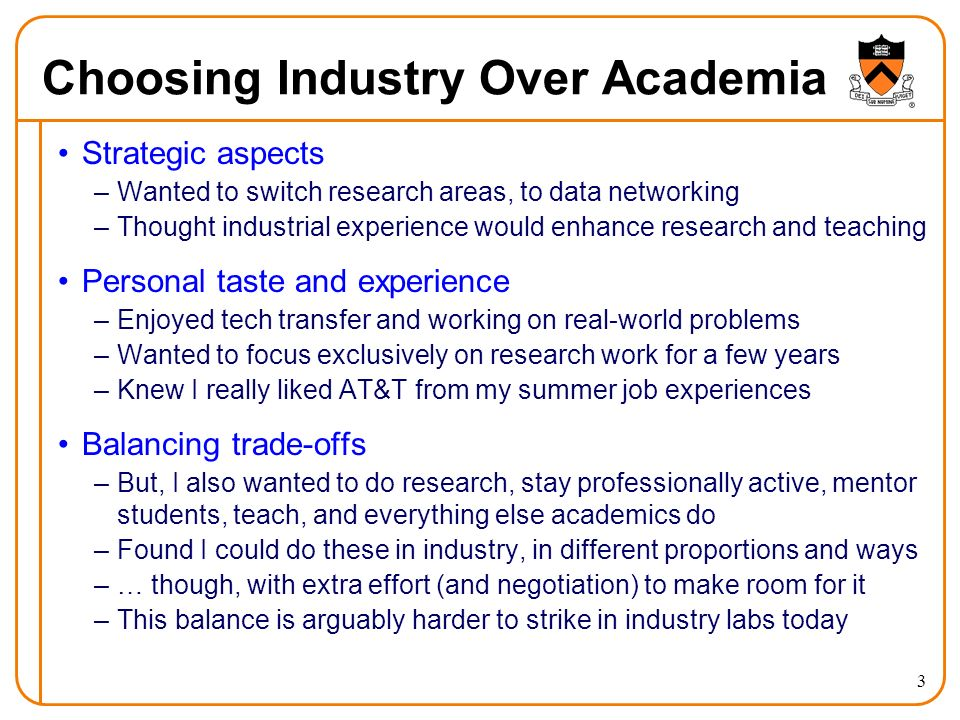 4 Choosing Academia Over Industry Personal growth –Ready to take on a new set of professional challenges –Felt ready to (try to) juggle a wider range of responsibilities –Feeling a little too comfortable in the technical work I was doing Shift in research direction –Wanted to step back to do more clean slate research, building on the operational perspective from AT&T –Wanted ultimately to branch into some other research topics, and make connections across disciplines Interaction with students –Found I was happiest in the summers, when students were around –Wanted more of an opportunity for teaching Balancing trade-offs –Striving to keep my research grounded in reality, with extra effort
