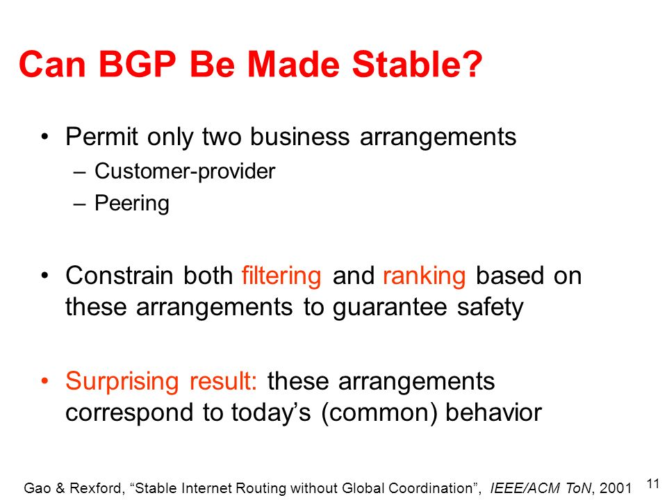 11 Can BGP Be Made Stable.