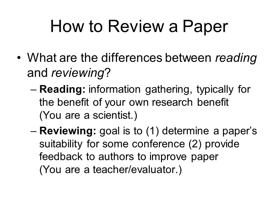 What are the differences between reading and reviewing.