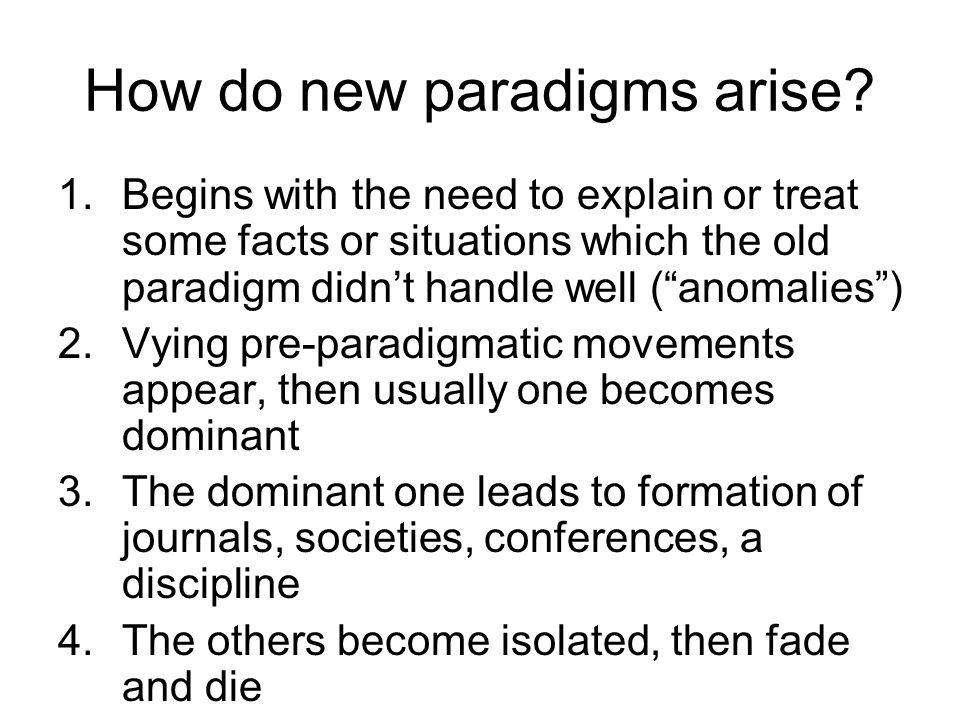 How do new paradigms arise.