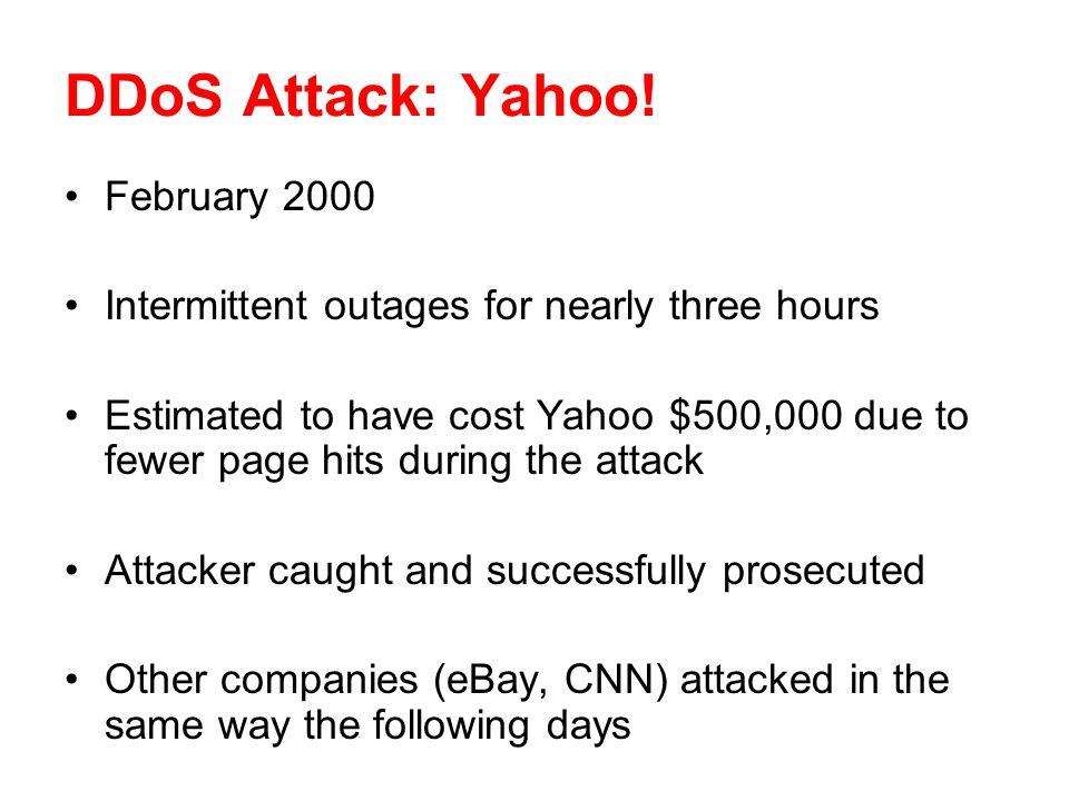 DDoS Attack: Yahoo.