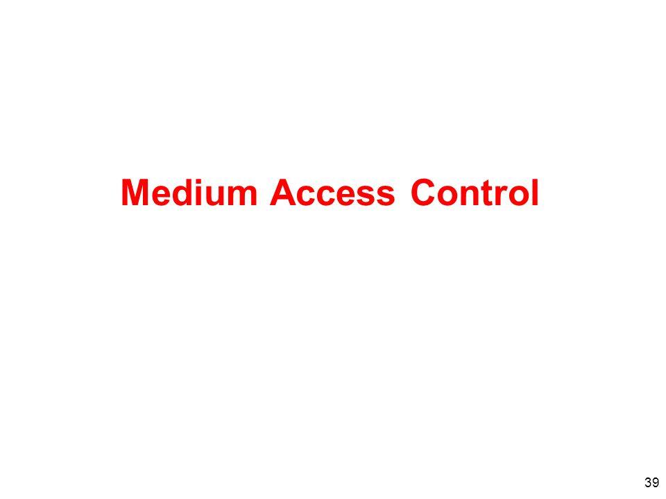39 Medium Access Control