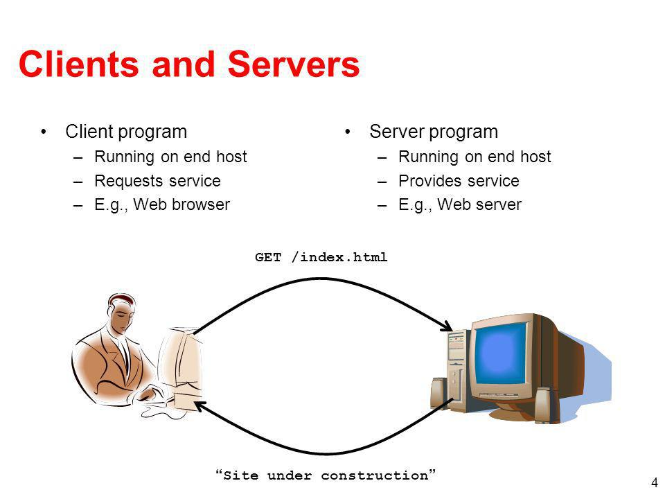 25 Server: Allowing Clients to Wait Many client requests may arrive –Server cannot handle them all at the same time –Server could reject the requests, or let them wait Define how many connections can be pending –int listen(int sockfd, int backlog) –Arguments: socket descriptor and acceptable backlog –Returns a 0 on success, and -1 on error What if too many clients arrive.