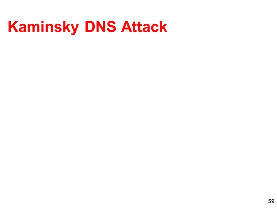 Kaminsky DNS Attack 59