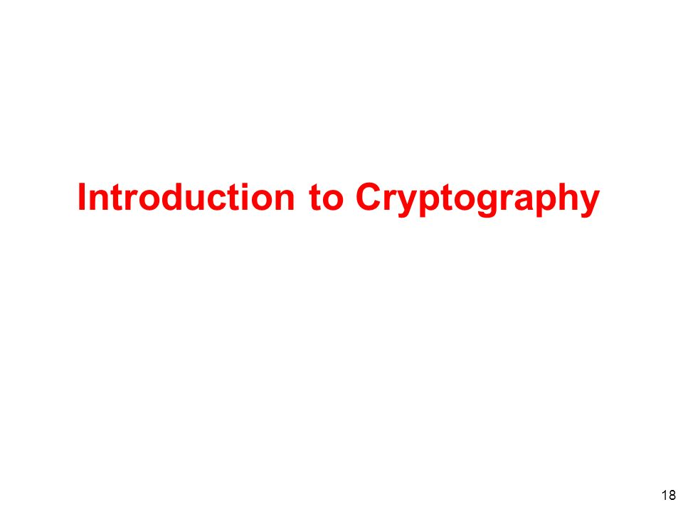 18 Introduction to Cryptography