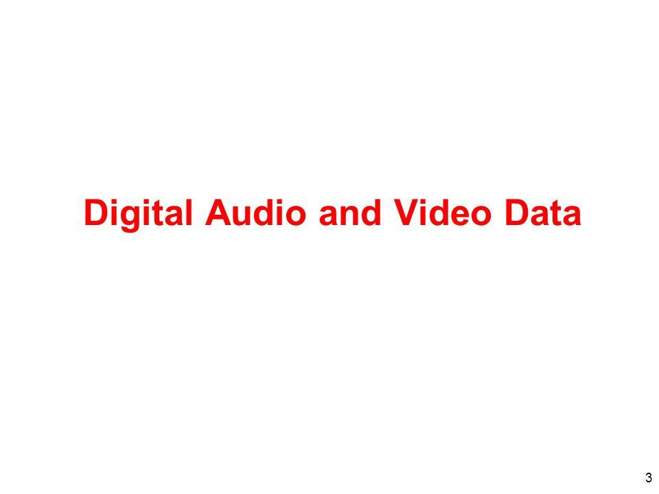 3 Digital Audio and Video Data
