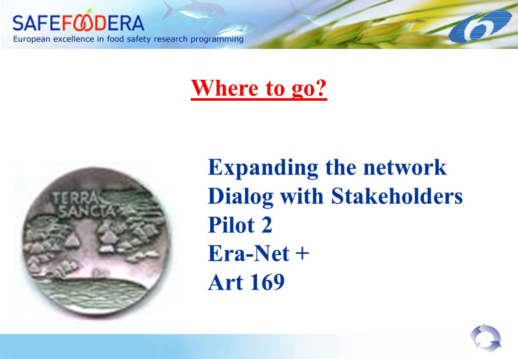 Expanding the network Dialog with Stakeholders Pilot 2 Era-Net + Art 169 Where to go