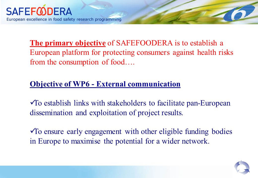 The primary objective of SAFEFOODERA is to establish a European platform for protecting consumers against health risks from the consumption of food….