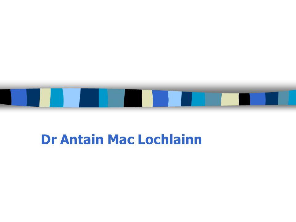 Dr Antain Mac Lochlainn
