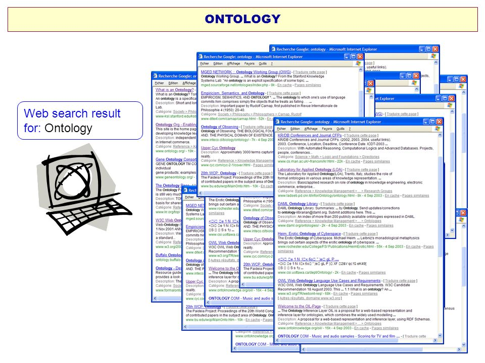 Web search result for: Ontology ONTOLOGY