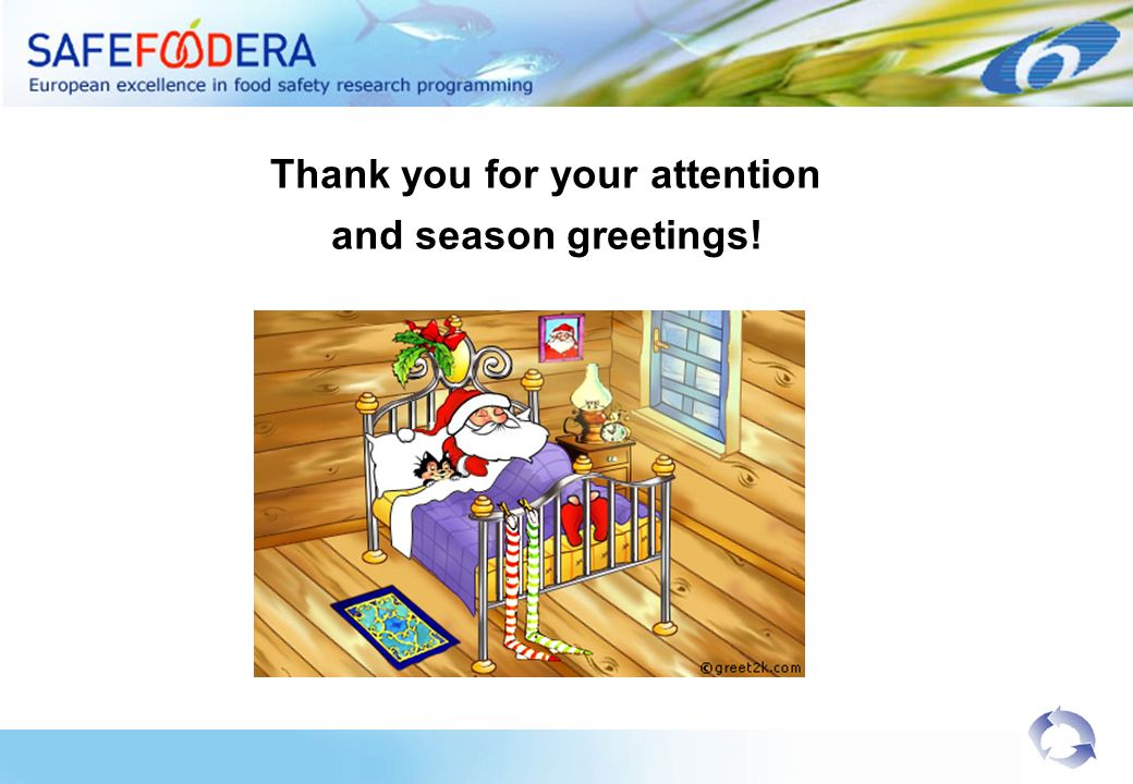 Thank you for your attention and season greetings!