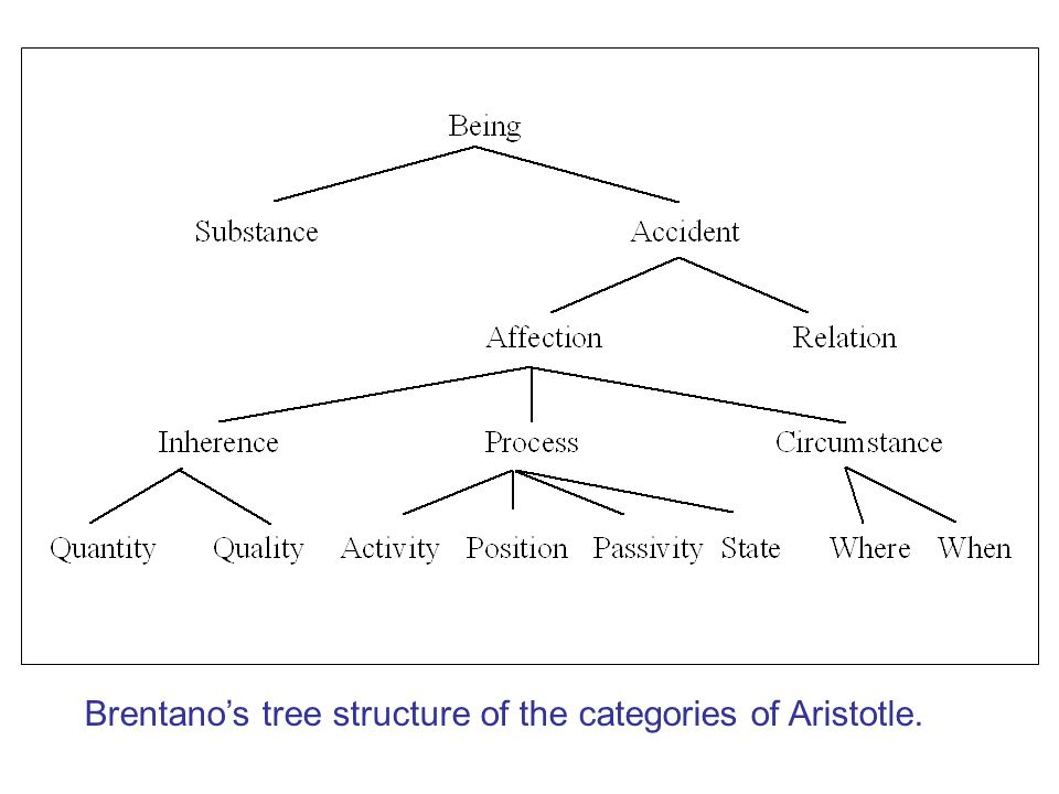Brentanos tree structure of the categories of Aristotle.