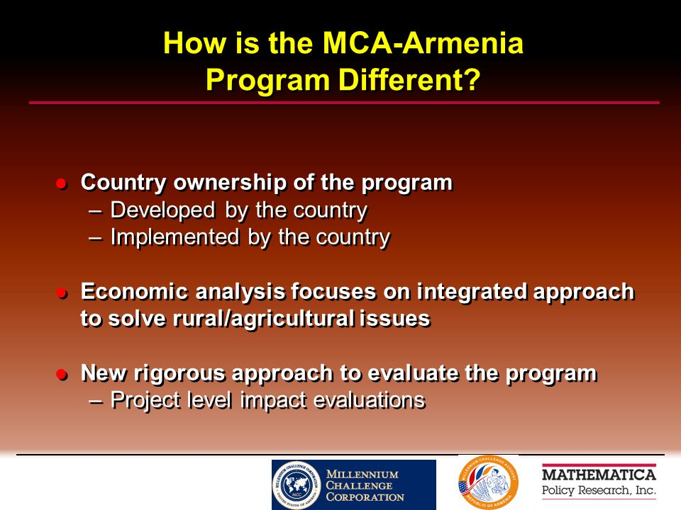 How is the MCA-Armenia Program Different.