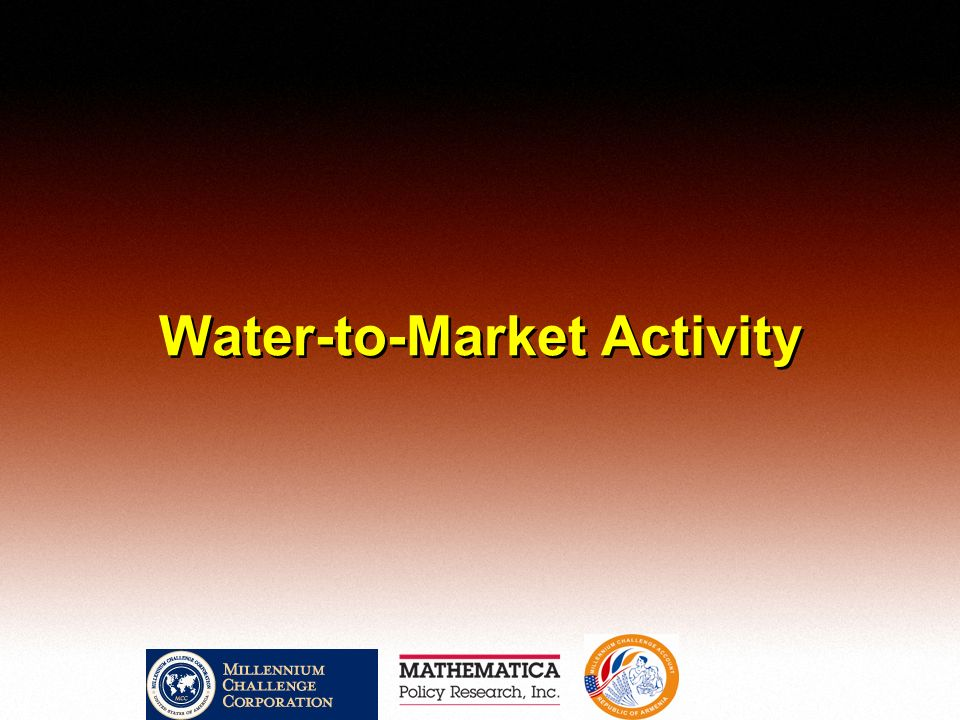 Water-to-Market Activity