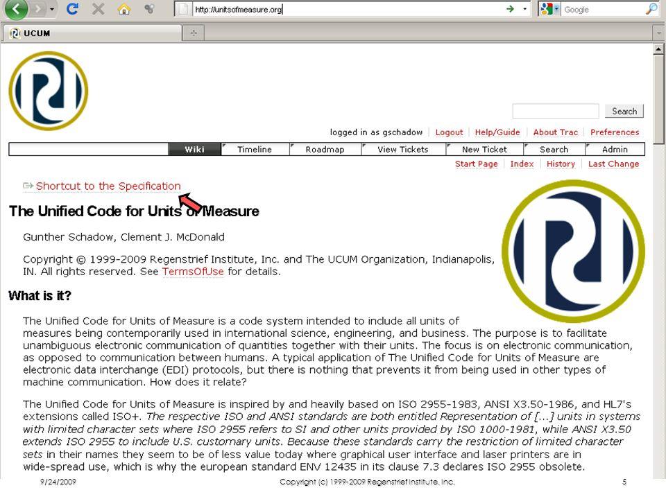 9/24/2009Copyright (c) 1999-2009 Regenstrief Institute, Inc.5