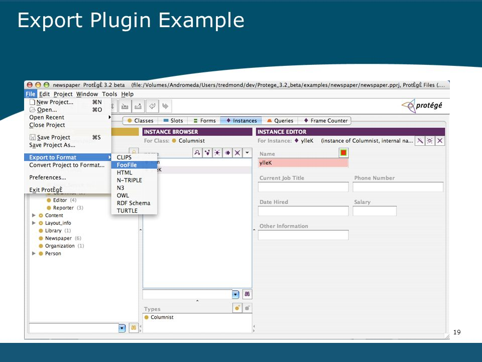 19 Export Plugin Example