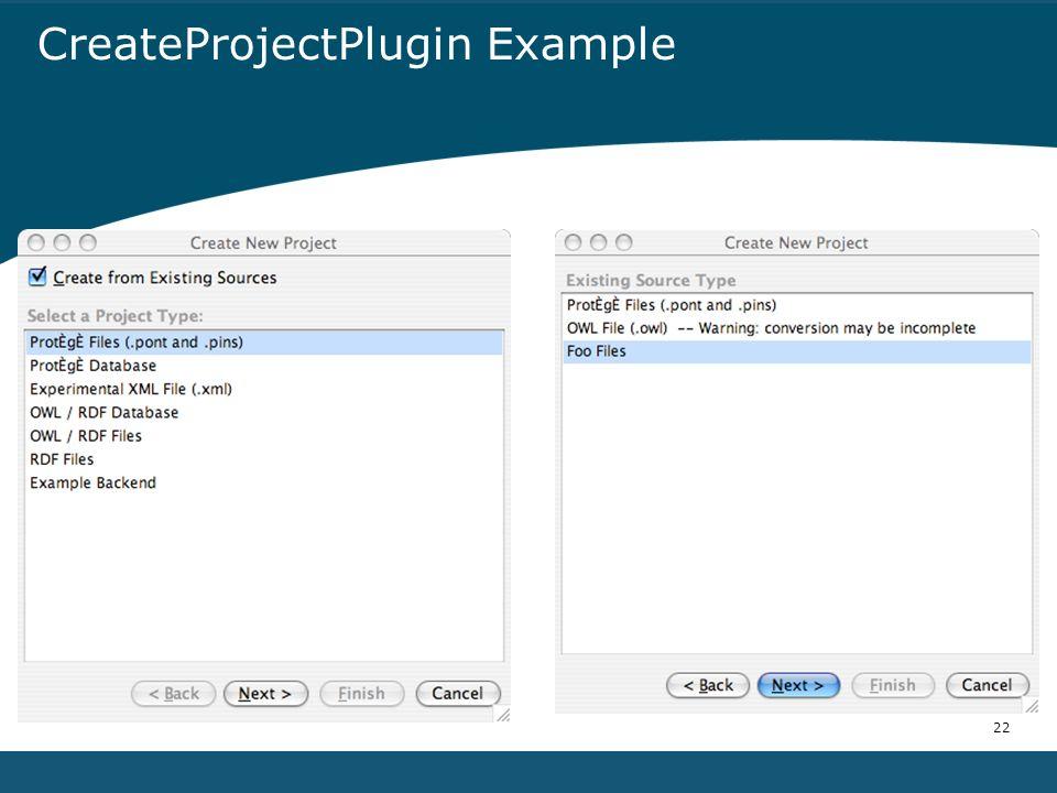 22 CreateProjectPlugin Example