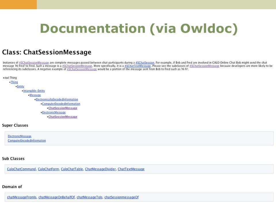 30 Documentation (via Owldoc)