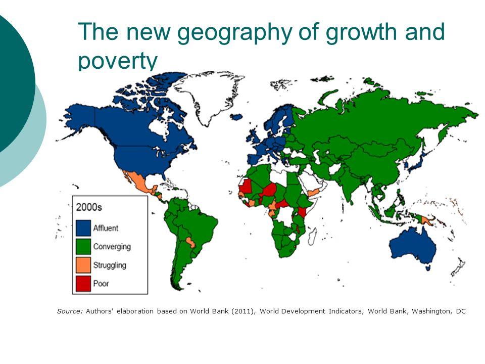 The new geography of growth and poverty Source: Authors' elaboration based on World Bank (2011), World Development Indicators, World Bank, Washington,