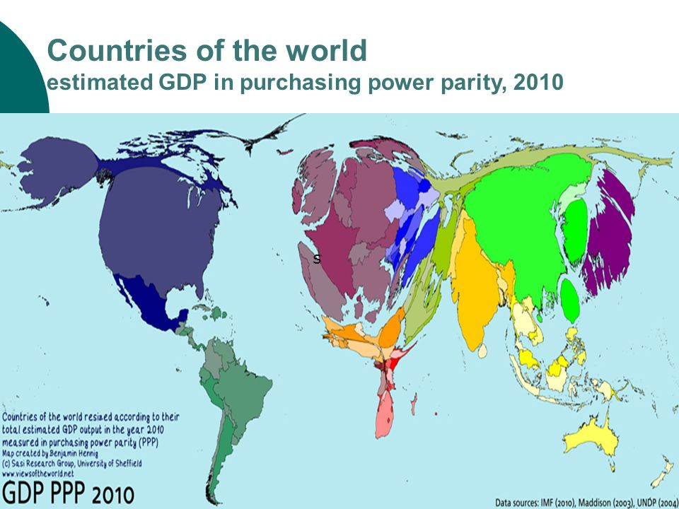 s Countries of the world estimated GDP in purchasing power parity, 2010