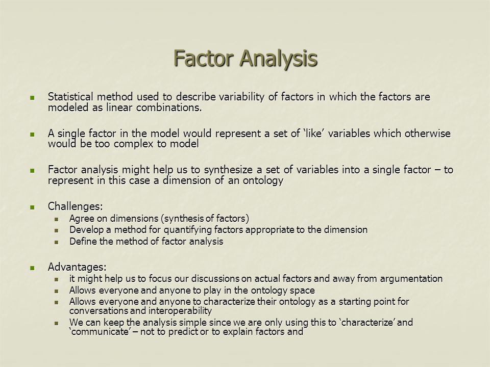Example of Factor Analysis Methodology is currently used to calculate and visually display factors which Contribute to the development or knowledge economies.