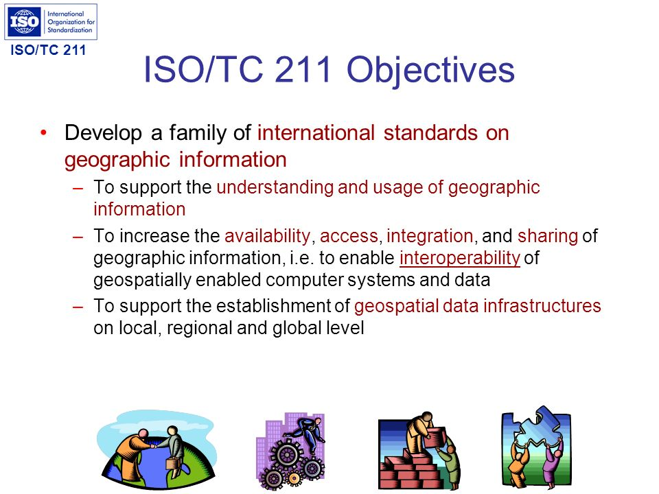 ISO/TC 211 Recommendation 4 Service ontology ISO/TC 211 shall initiate the revision of ISO19119:2005 geographic information - Services to enhance service metadata in order to support discovery of Web services on the Semantic Web.