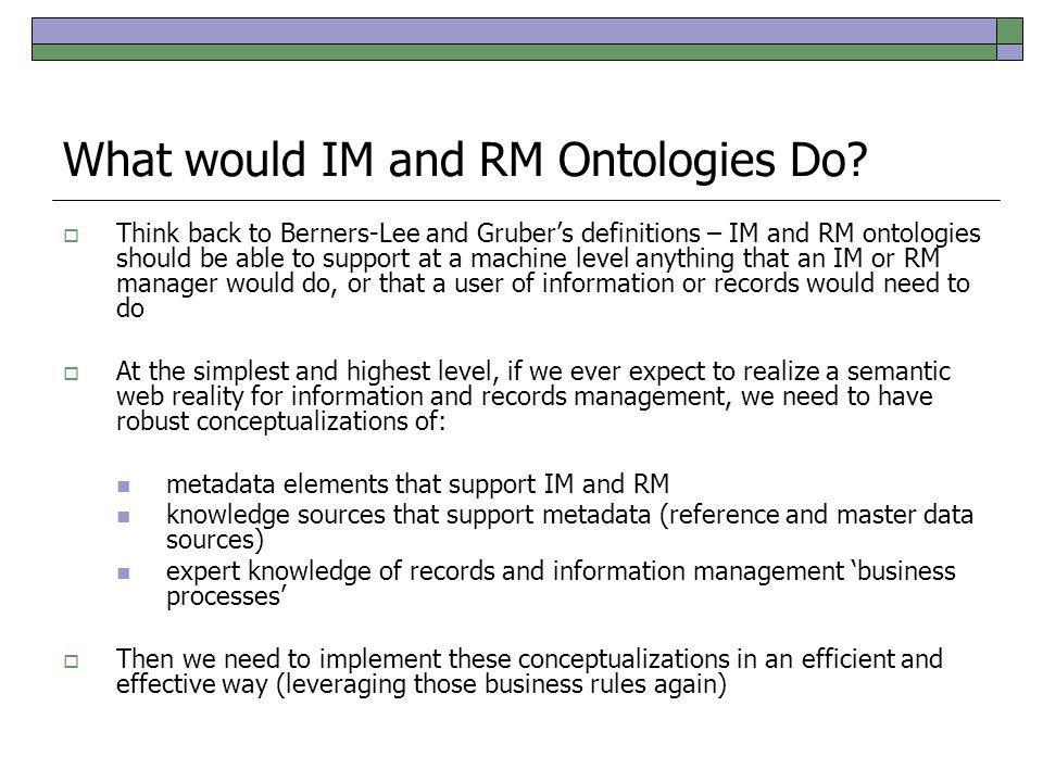 Metadata Reference Model Find the ontology applications…..