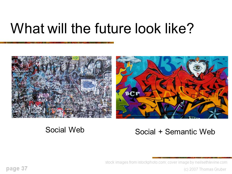(c) 2007 Thomas Gruber page 37 What will the future look like.