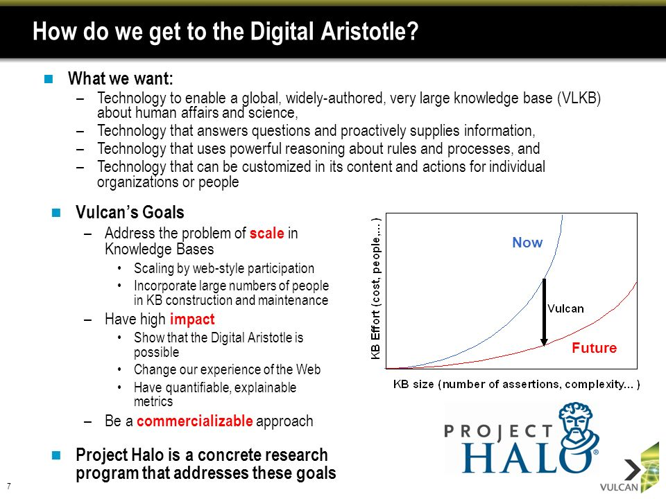 7 How do we get to the Digital Aristotle.