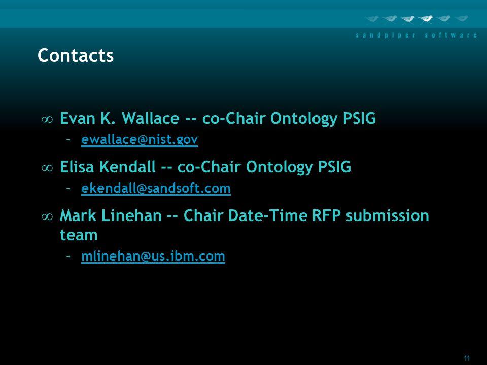 11 Contacts Evan K.