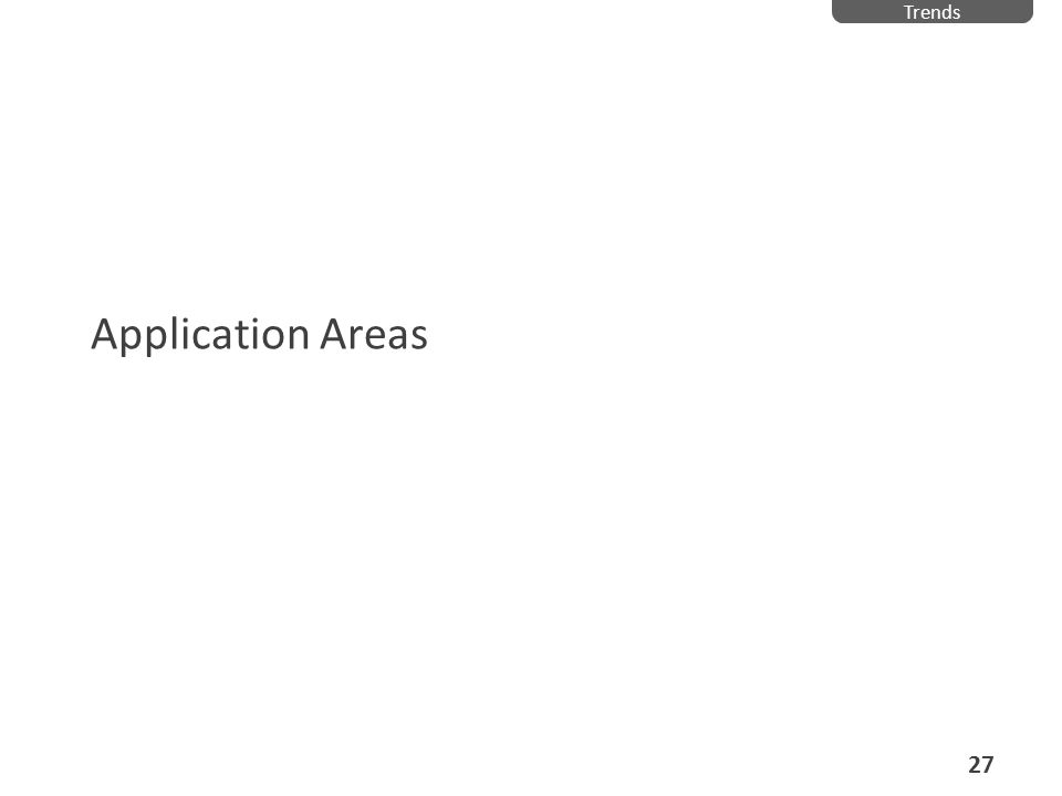 Application Areas Trends 27