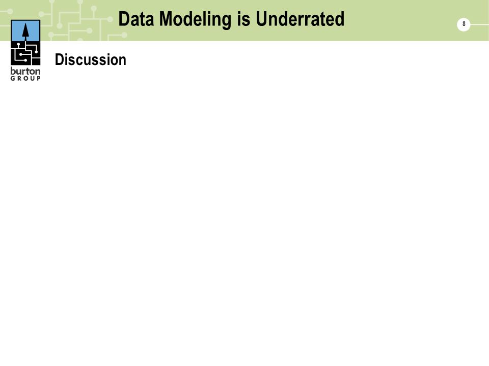 8 Data Modeling is Underrated Discussion