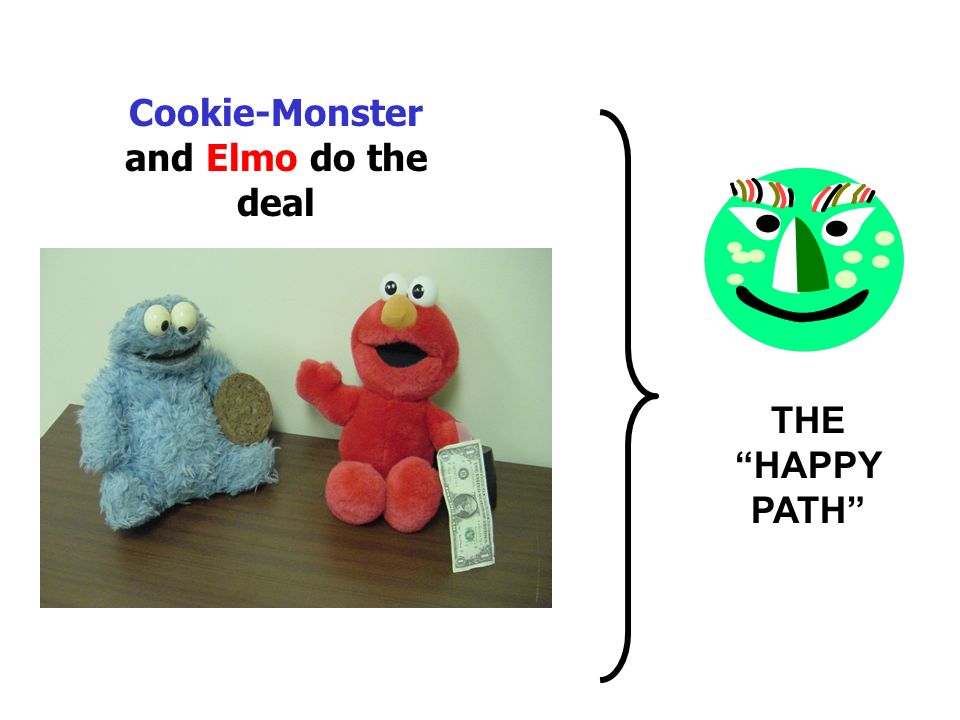 Cookie-Monster and Elmo do the deal THE HAPPY PATH