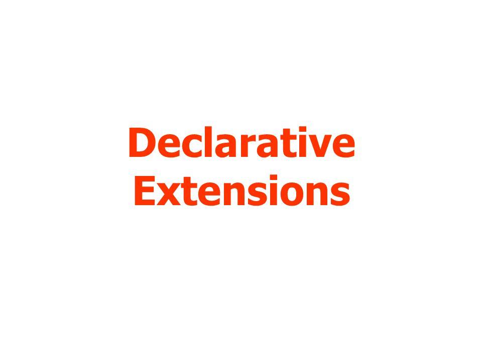 Declarative Extensions