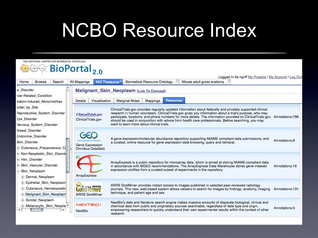 NCBO Resource Index